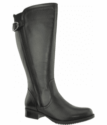 Kempten Wide Calf Ladies Boot Black Cow Nappa