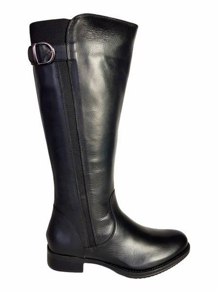 Kempten Wide Calf Wide Calf Ladies Boot Black Cow Nappa