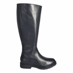 Ketton Extra Wide Calf Ladies Black Nappa
