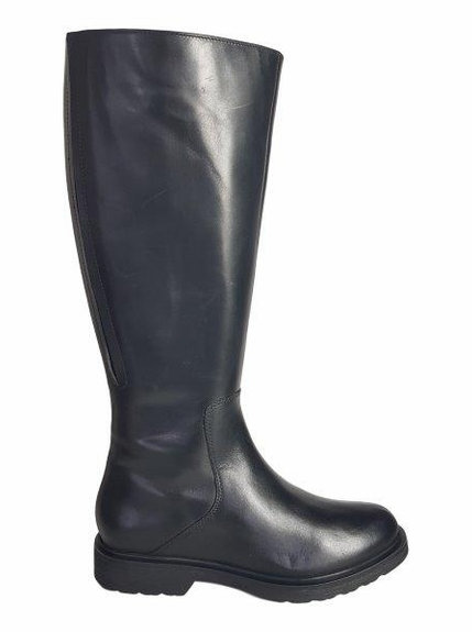 Ketton Super Plus Wide Calf Super Plus Wide Calf Ladies Boot Black Nappa