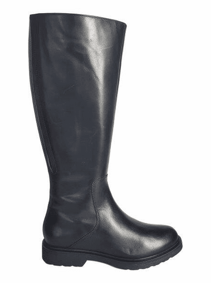 Ketton Super Wide Calf Ladies Black Nappa