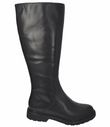 Ketton Wide Calf Ladies Black Nappa