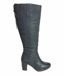 kopenhagen Extra Wide Calf Ladies Boot Black Vintage