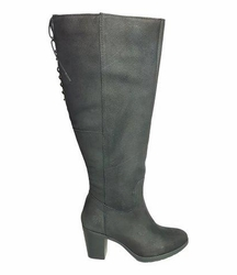 kopenhagen Super Wide Calf Ladies Boot Black Grain Nubuck