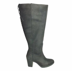 kopenhagen Wide Calf Ladies Boot Black Grain Nubuck