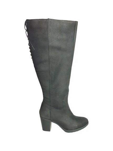 kopenhagen Wide Calf Wide Calf Ladies Boot Black Grain Nubuck