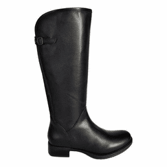 Kreta Extra Wide Calf Ladies Boot Black Silk