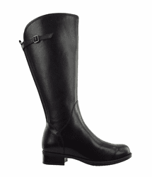 Kreta Super Wide Calf Ladies Boot Black Silk