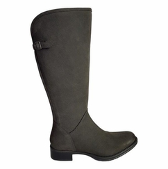 Kreta Wide Calf Wide Calf Ladies Boot Asphalt Cow Grain