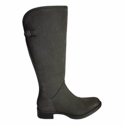 Kreta Wide Calf Ladies Boot Asphalt Cow Grain