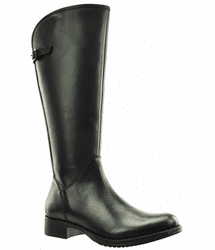 Kreta Wide Calf Ladies Boot Black Cow Nappa