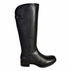 Kreta Wide Calf Ladies Boot Black Silk