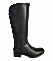 Kreta Wide Calf Wide Calf Ladies Boot Black Silk