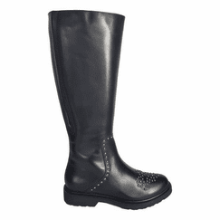 Lauder Extra Wide Calf Ladies Black Nappa