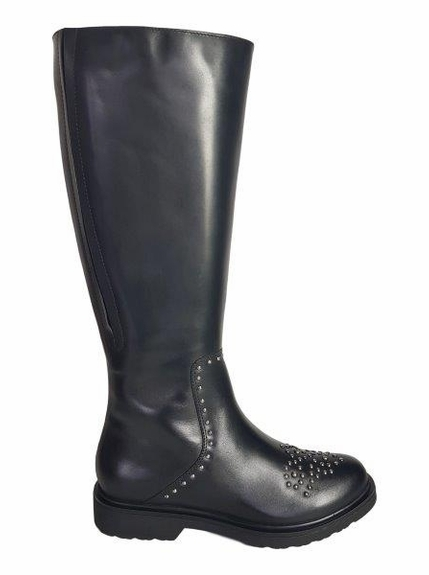 Lauder Extra Wide Calf Ladies Boot Black Nappa