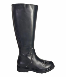 Lauder Super Wide Calf Ladies Black Nappa