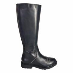 Lauder Wide Calf Ladies Black Nappa