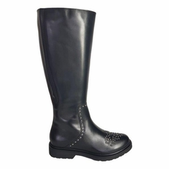 Lauder Wide Calf Ladies Boot Black Nappa