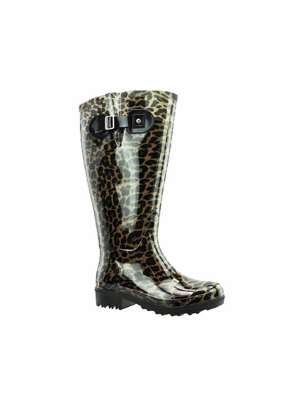 533fd4d9082 Lily Women's Extra Wide Calf Rain Boot (Leopard) - Final Sale ...