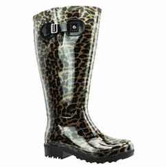 Lily Women's Extra Wide Calf Rain Boot (Leopard) - Final Sale