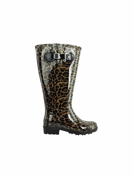 Lily Women's Super Wide Calf™ Rain Boot (Leopard) - Final Sale