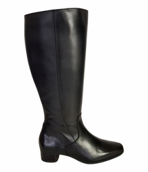 Lugano Extra Wide Calf Ladies Boot Black Nappa Capri