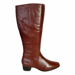 Lugano Extra Wide Calf Ladies Boot Cognac Street