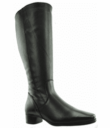 Lugano Super Plus Wide Calf Ladies Boot Black Nappa Capri