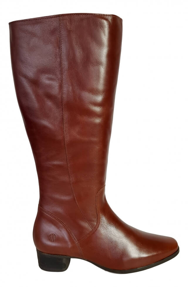 bb034d3b121 Lugano Super Plus Wide Calf Ladies Boot Cognac Street - Wide Calf ...