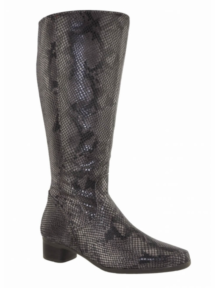 Lugano Super Plus Wide Calf Ladies Boot Espresso Sirbis