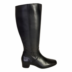 Lugano Super Wide Calf Ladies Boot Black Nappa Capri