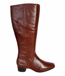 Lugano Wide Calf Ladies Boot Cognac Street