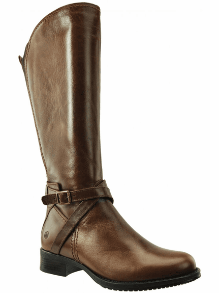 Melbourne Extra Wide Calf Ladies Boot Cognac Street