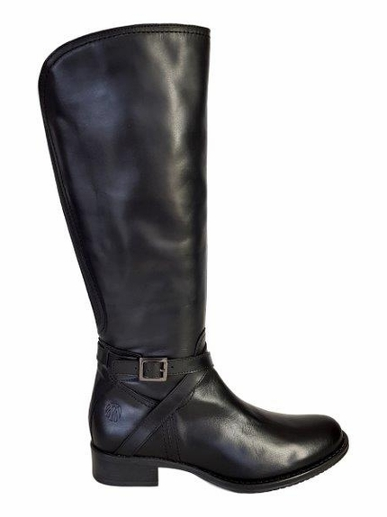 Melbourne Super Plus Wide Calf Super Plus Wide Calf Ladies Boot Black Nappa Capri