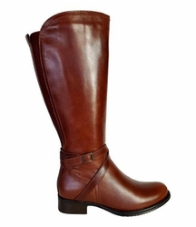 Melbourne Super Plus Wide Calf Super Plus Wide Calf Ladies Boot Cognac Street