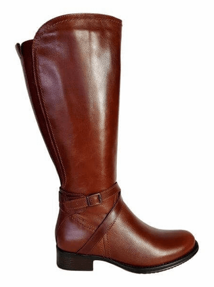 Melbourne Super Plus Wide Calf Ladies Boot Cognac Street