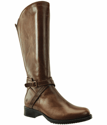 Melbourne Wide Calf Ladies Boot Cognac Street