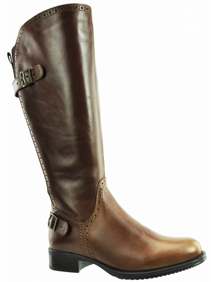 Napoli Wide Calf Ladies Boot Cognac Street