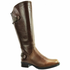 Napoli Wide Calf Wide Calf Ladies Boot Cognac Street