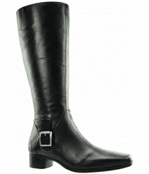Perugia Wide Calf Ladies Boot Black Nappa Capri