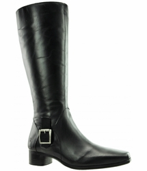 Perugia Wide Calf Wide Calf Ladies Boot Black Nappa Capri