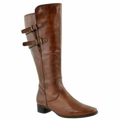 Piraens Extra Wide Calf Ladies Boot Cognac Street