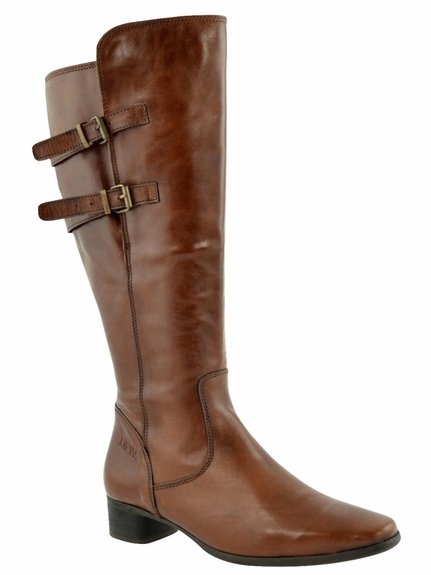 Piraens Extra Wide Calf Extra Wide Calf Ladies Boot Cognac Street