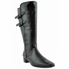 Piraens Super Wide Calf Ladies Boot Black Nappa