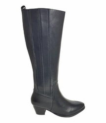 Prescot Extra Wide Calf Ladies Boot Black Silk