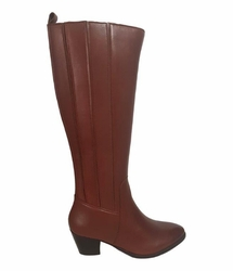 Prescot Extra Wide Calf Ladies Boot Cognac Street