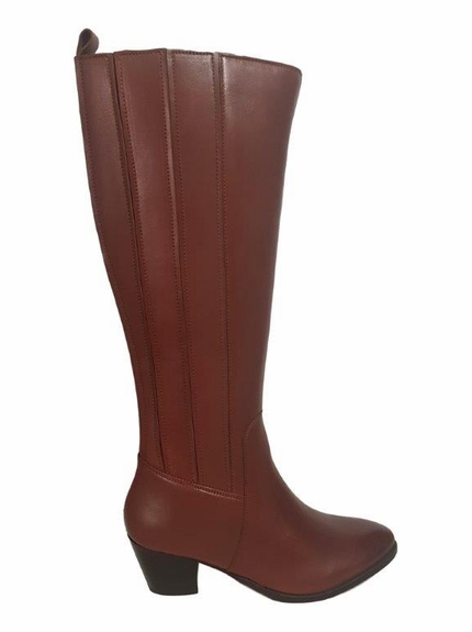 Prescot Super Wide Calf Super Wide Calf Ladies Boot Cognac Street