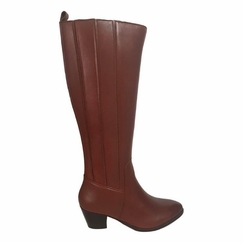 Prescot Wide Calf Ladies Boot Cognac Street