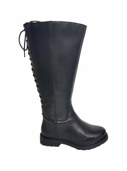 Sarjevo Extra Wide Calf Ladies Black Nappa