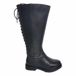 Sarjevo Extra Wide Calf Extra Wide Calf Ladies Boot Black Nappa